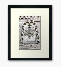 heraldic relief Framed Print