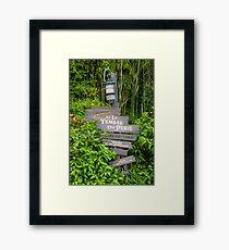 Directions to Indiana Jones Framed Print