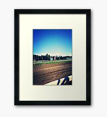 Saratoga Springs Racing Framed Print