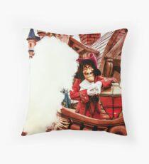 Captain Hook Throw Pillow