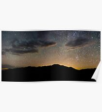 Light Pollution Over the Sangre de Cristo - Great Sand Dunes National Park, Colorado Poster