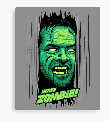 Here's Zombie! Canvas Print