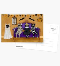 The Halloween Party Postcards