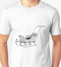 Let's Go For a Sleigh Ride! Christmas Vintage Sleigh. Unisex T-Shirt