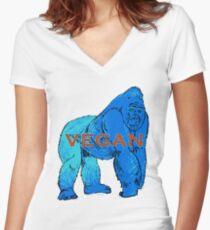 Gorilla V Women's Fitted V-Neck T-Shirt