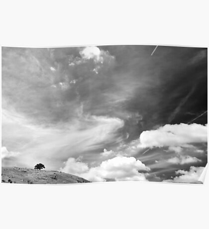 Standing among clouds  Poster