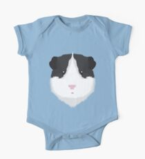 Black and White Guinea Pig One Piece - Short Sleeve