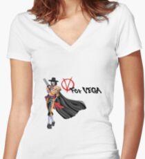 V for Vega Women's Fitted V-Neck T-Shirt