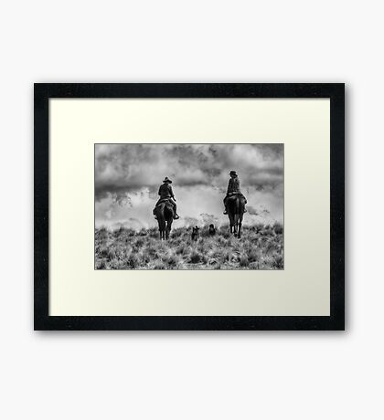 Mustering on Balmoral Station Framed Print
