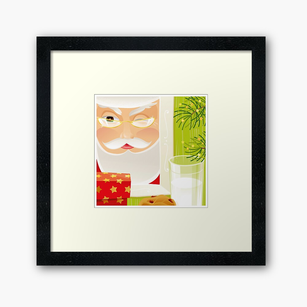 Santa!.. Framed Art Print