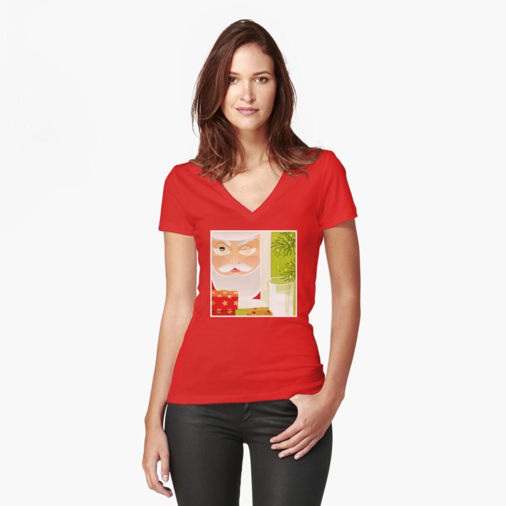 Santa!.. Fitted V-Neck T-Shirt