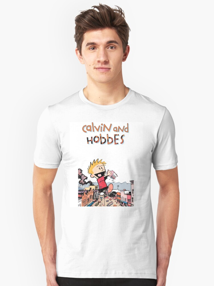 Calvin And Hobbes Unisex T-Shirt Front