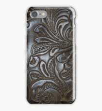 Vintage Embossed Leather iPhone Case/Skin
