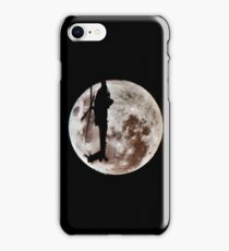Military Helicopter Against Full Moon iPhone Case/Skin