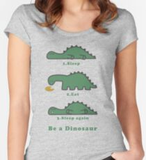 Sleep, Eat, Sleep Women's Fitted Scoop T-Shirt