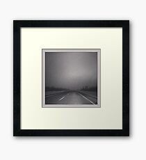 Winter Roads in the Prairies Framed Print