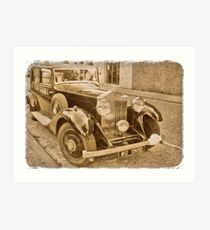 Antique Car  Art Print