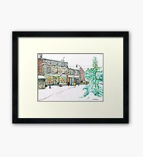Broadway Snow Scene Framed Print