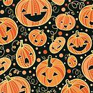 Fun Halloween pumpkins pattern by oksancia