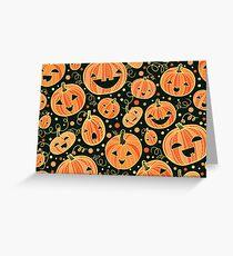 Fun Halloween pumpkins pattern Greeting Card