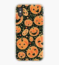 Fun Halloween pumpkins pattern iPhone Case