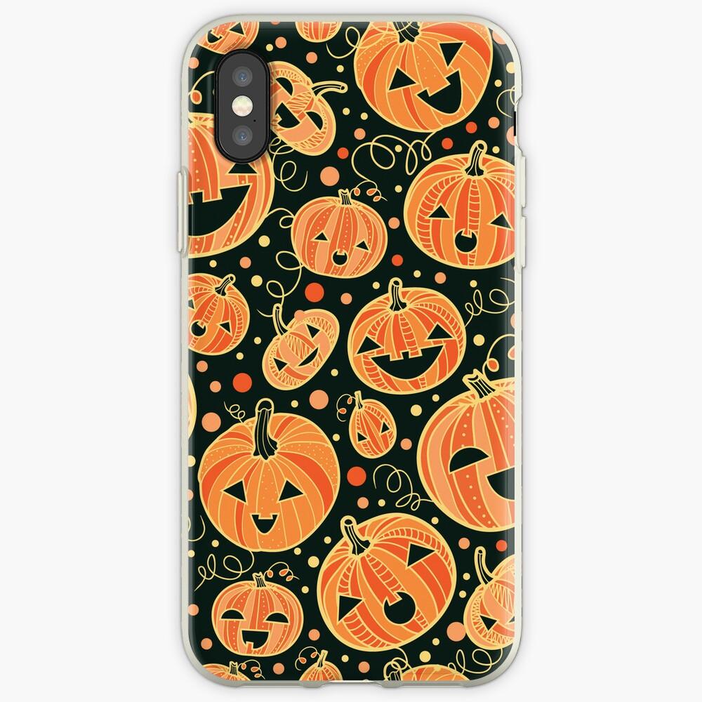 Fun Halloween pumpkins pattern iPhone-Hüllen & Cover