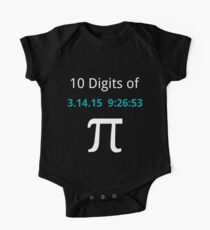 10 Digits of Pi - Black Geek T-Shirt for Pi Day 2015  One Piece - Short Sleeve