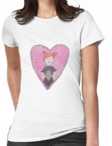 Rabbit Heart Womens Fitted T-Shirt