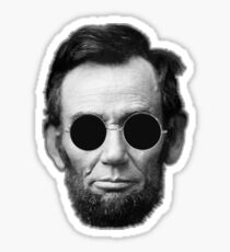 Abe Lincoln and Cheap Sunglasses Sticker