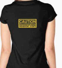 Caution, photographer on duty Women's Fitted Scoop T-Shirt