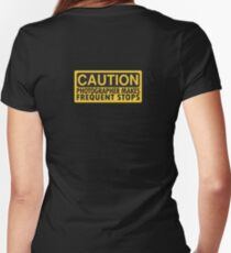Caution, photographer on duty Women's Fitted V-Neck T-Shirt