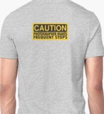Caution, photographer on duty Unisex T-Shirt