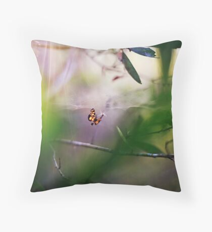 Will you step into my parlour? Throw Pillow