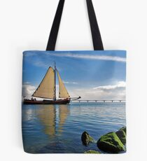 "The ""Scaldis"" leaves the port of Zierikzee Tote Bag"