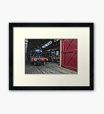 Steam Locomotive HDR V Framed Print
