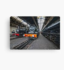 Steam Locomotive HDR VIII Canvas Print