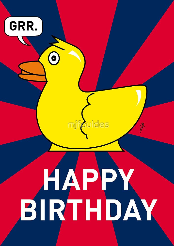 A Rubber Duck Birthday Card by mjfouldes
