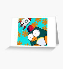 Penguin Dantro Greeting Card