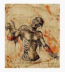 Diagram Zombie Photographic Print