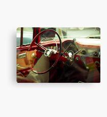 Vintage dashboard Canvas Print