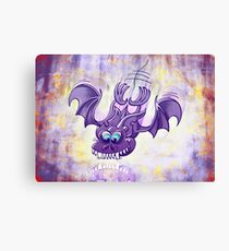 Bat Sinking its Fangs into Fresh Flesh Canvas Print
