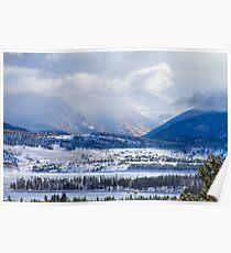 Colorado Rocky Mountain Autumn Storm Poster