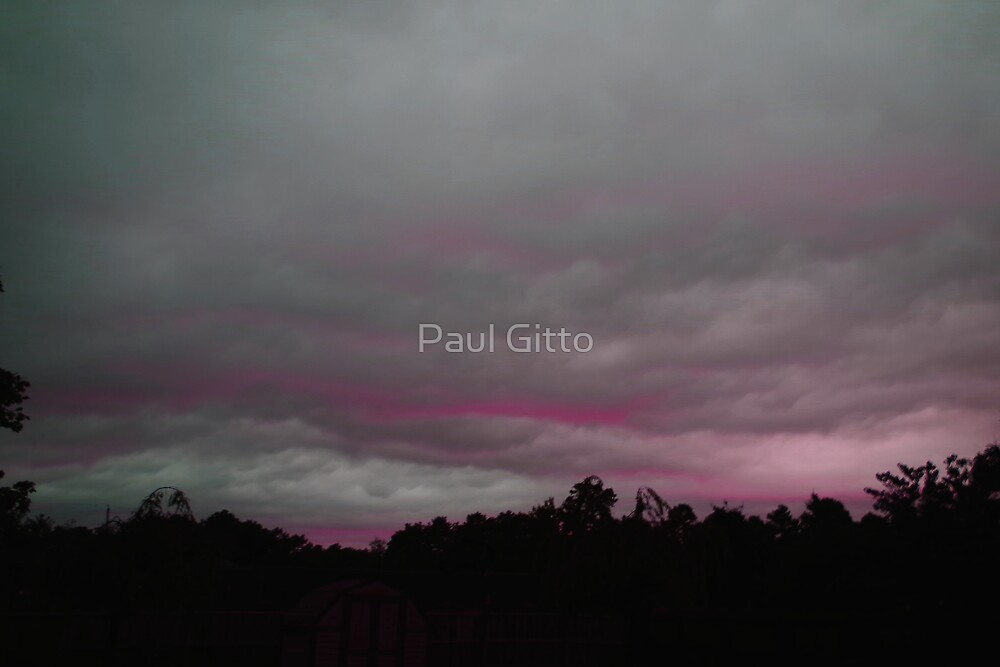 Purple Clouds on A Grey Background by Paul Gitto