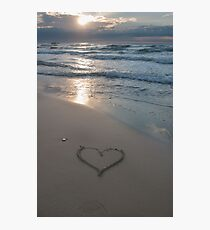 Heart at the beach Photographic Print