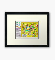 Dinosaur Party Game Board Framed Print