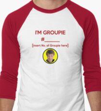 """""""I'm Groupie Number.... """" Joss Whedon's Dr. Horrible - Dark Men's Baseball ¾ T-Shirt"""