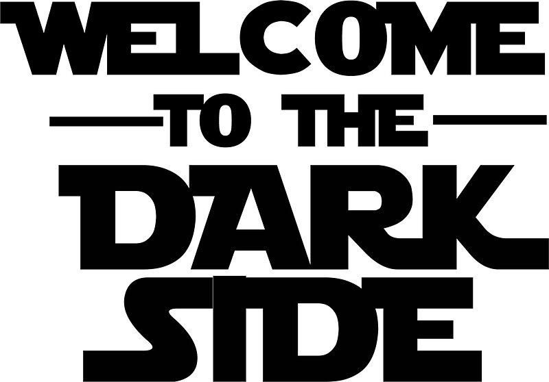 Quot Welcome Dark Side Quot Stickers By Mariapuraranoai Redbubble