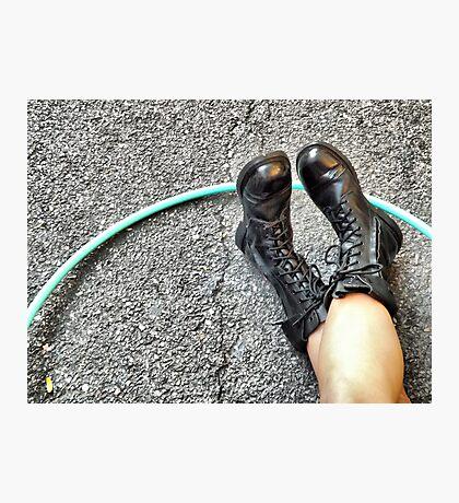 Hoop n Boots Photographic Print