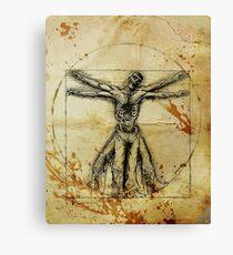 Vitruvian Zombie Canvas Print