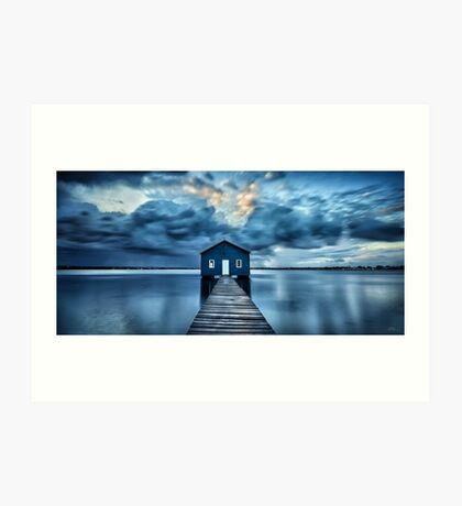 A Little Blue Boatshed Art Print